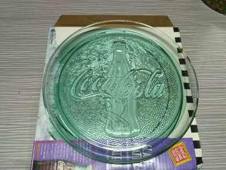 Coca Cola Glass Platter Contour Bottle Design