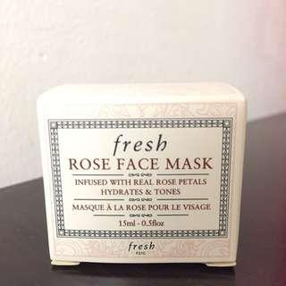 BNIB Fresh Rose Face Mask