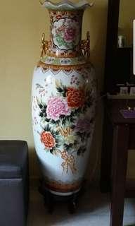 Porcelain Vase Standing 5 Ft Tall
