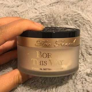 Too faced loose powder