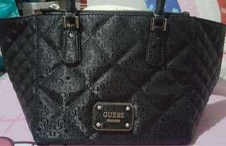 Preloved Authentic GUESS Black Ophelia Satchel