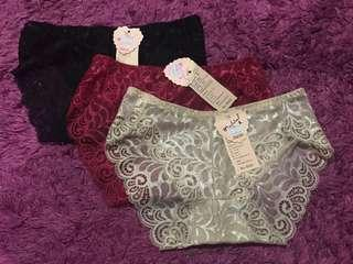 3 for RM25 lace panties