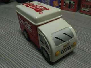 Coca Cola Porcelain Truck Money Bank