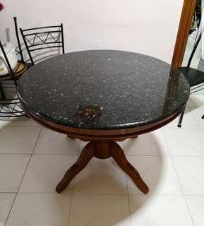 """Granite Dining Table Round 36"""""""" Dia"""