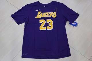 🏀現貨發售🏀NBA Nike LA Lakers Lebron James Tee湖人勒邦占士tee