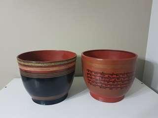 Burmese Lacquer Bowls (Medium)