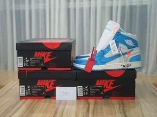 9US, 9.5US Off-white x Air Jordan 1 HIGH OG UNC