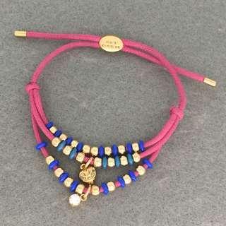 Juicy Couture Sample Bracelets 粉紅色配金色閃石心心logo手繩手帶手鏈手環