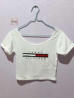 Inspired Tommy Crop Top