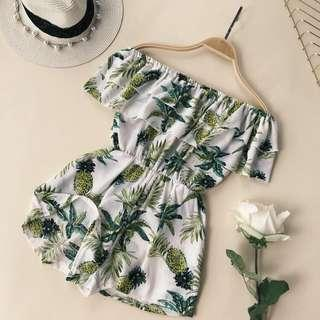 Hawaiian Off Shoulder Romper