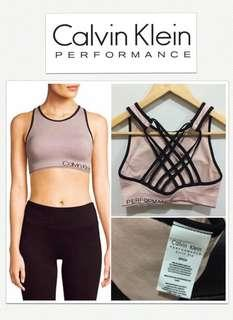 Calvin Klein Performance Quick Dry Strappy Back Sports Bra - Flesh