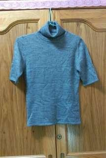 H2O灰色高領針織衫