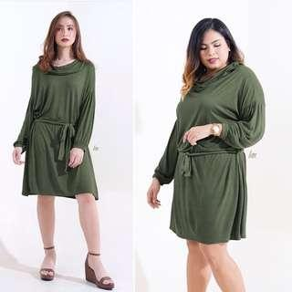 Army Green Pullover Dress
