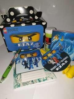 Customised Lego Ninjago Blue Ninja Goodie Box