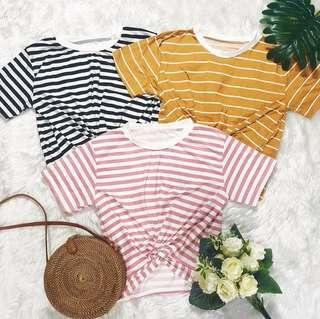 FRONT TWISTED STRIPES TEES