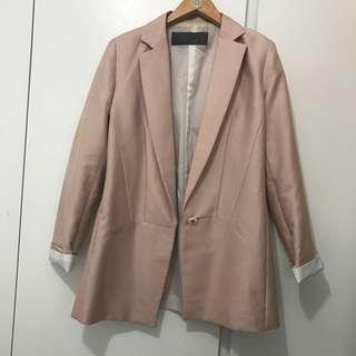 Pink blazer jacket size s