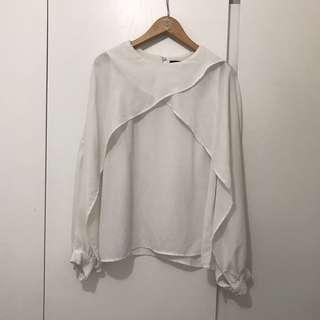 Zara white top special design size s
