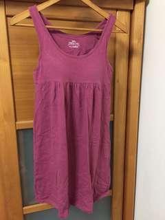 🚚 [二手]Lativ PERFECT FIT 胸襯墊背心洋裝 無袖洋裝 孕婦裝 夏秋洋裝 純棉+萊卡材質
