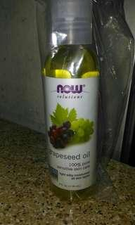 Now Foods, Solutions, Grapeseed Oil 葡萄籽油 118ml 全新現貨 保濕護膚精油