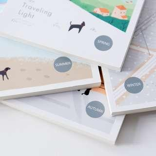 Traveling Light Plain Notepad A6