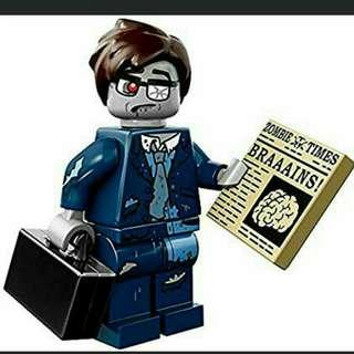 Lego Zombie Businessman from CMF 14