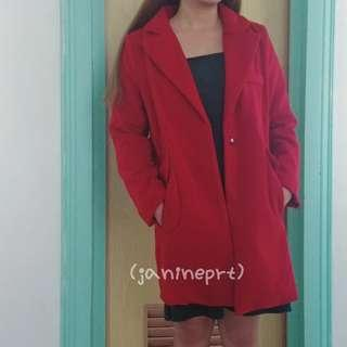 Asian Style Autumn/Winter Coat - Red