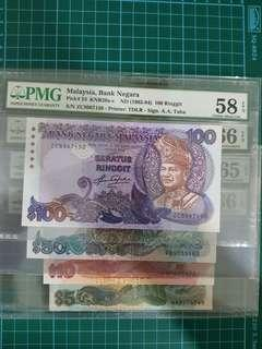 5th series ringgit $5 to $100