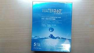 Water 360 by Watsons mineral spring brightening mask 1 box 5 pieces 溫泉水透瑩漾透亮面膜1盒5片裝