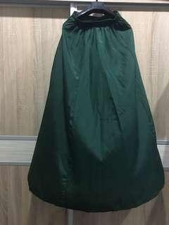 Emerald green long skirt