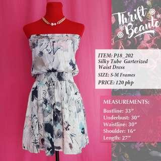 Silky Tube Garterized Waist Dress