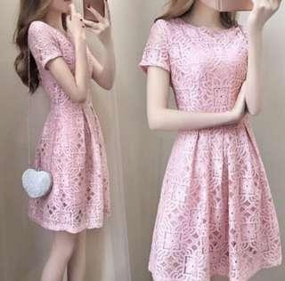 Pink Lace Dress - brand new