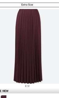 Uniqlo High Waist Pleated Skirt