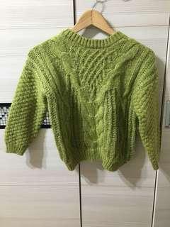 🚚 果綠色短毛衣