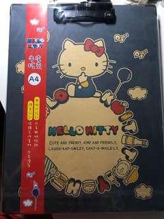 Hello Kitty A4 牛皮板夾