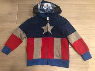 Captain America hoodie 4t