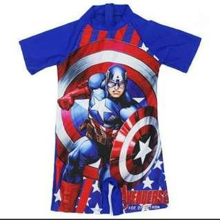 Captain America Swim Suit Swimwear