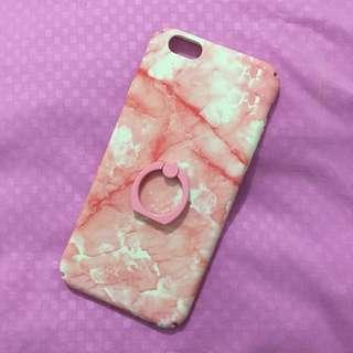 Case iphone 6/6s pink marble🌸