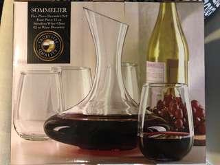 REPRICED Stemless Wine Glass & Decanter Set