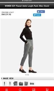 Uniqlo WOMEN EZY Flannel Ankle Length Pants