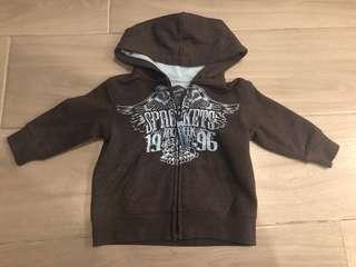 Baby boy biker hoodie