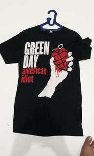 Tshirt Green day official licensed tahun 2010