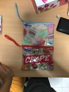 Tsum Tsum original transparent pouch (Brand New)