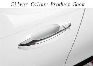 Door Handle Decorative Sequin Stainless Steel Doorknob Cover Trim Strip For Audi A4 B8 A5 Q3 Q5