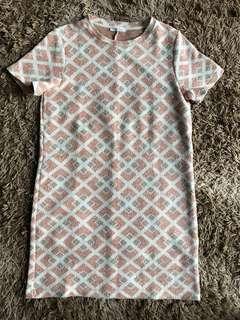 Zara Trafaluc Short Sleeve Dress