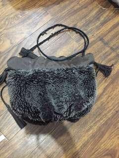 Furry boho bag