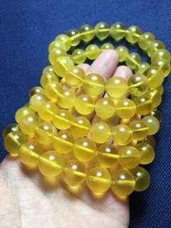 蜜蠟圓珠手鍊