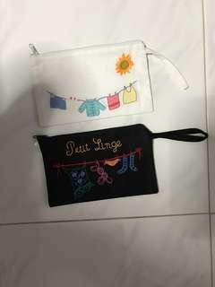 Hong Kong hand stitched pouch (Brand New)