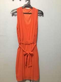 Promod Red-Orange Dress