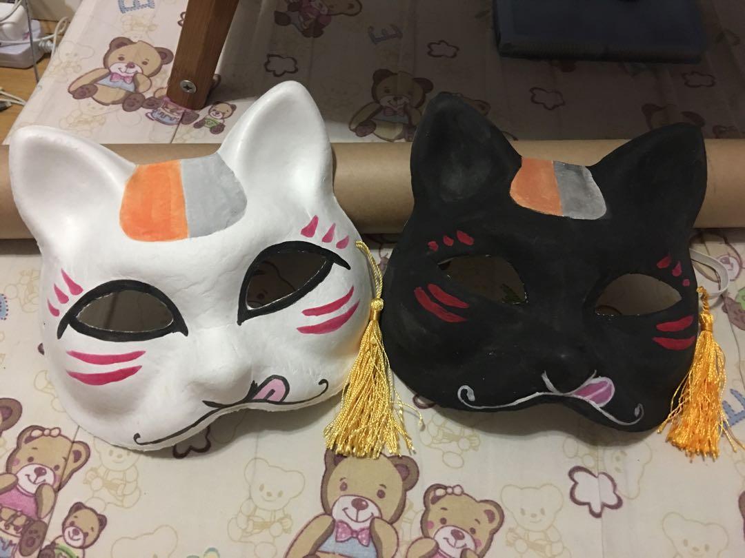 貓咪老師 面具 日式面具