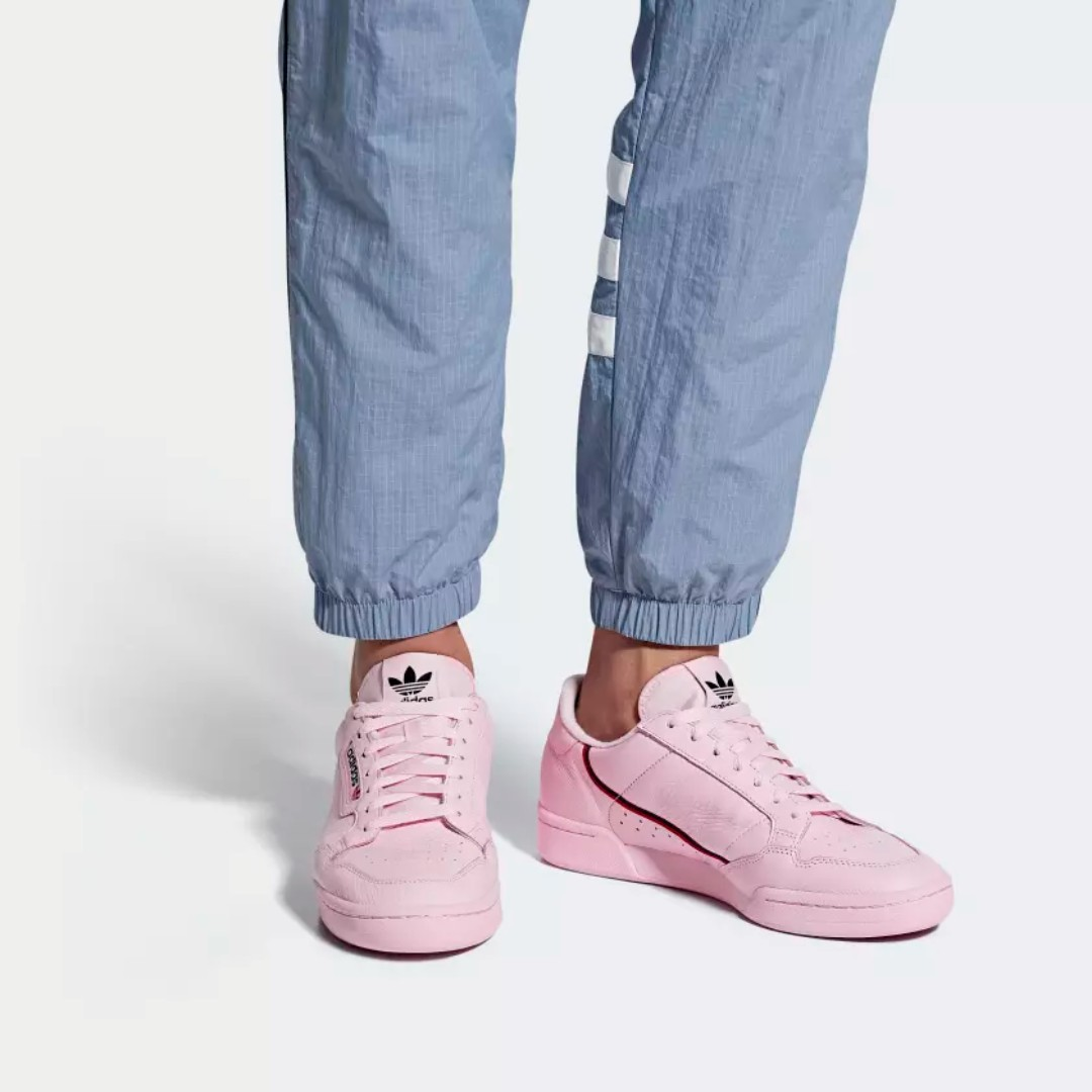 new product e168f dba75  LIMITED TIME OFFER  ADIDAS CONTINENTAL 80 SHOES - CLEAR  PINK SCARLET COLLEGIATE NAVY, Men s Fashion, Footwear, Sneakers on Carousell